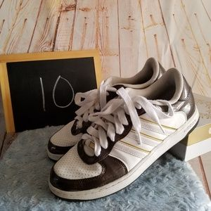 Adidas Brown & White Tennis Shoes Size 10